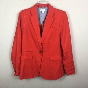 Kenar red linen/ cotton blazer jacket